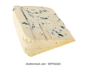 Blue cheese on a white background