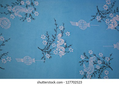 Blue Chinese vintage wallpaper