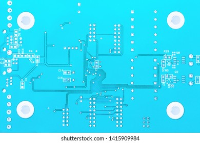blue chip without soldered processor, transistors and capacitors