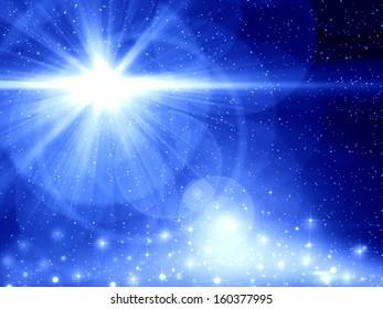 Blue Christmas background