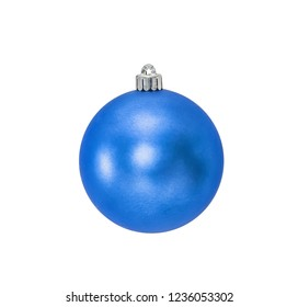 Blue Christmas hanging ball  isolated on white background