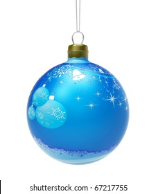 Blue Christmas toy