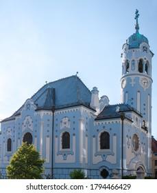 The Blue Church or St. Elizabeth or Modry Kostol Svatej Alzbety in the Old Town in Bratislava, Slovakia. - Shutterstock ID 1794466429