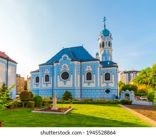 The Blue Church or The Church of St. Elizabeth or Modry Kostolik in the Old Town in Bratislava, Slovakia