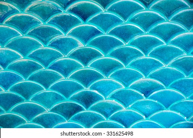 Blue circle water wave tile texture background