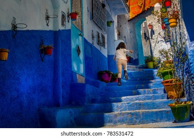 the blue city chefchaoun of Morocco
