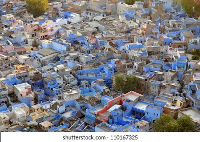 "Blue City Blue City"" due to the blue-painted houses around the Mehrangarh Fort. located in Rajasthan, India."