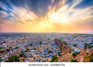 blue city of Jodhpur from Mehrangarh Fort