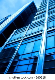 """""""Blue City"""", this picture was taken nearly Waterloo Station, London, UK"""
