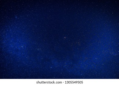Blue clear night with stars