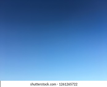 Blue clear sky with none of cloud.