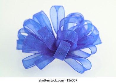 blue cloth bow