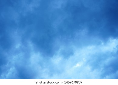 Blue cloud at a mountain top
