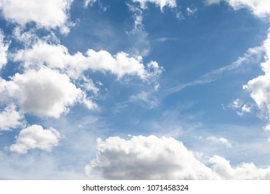 Blue cloudy sky during sunshine