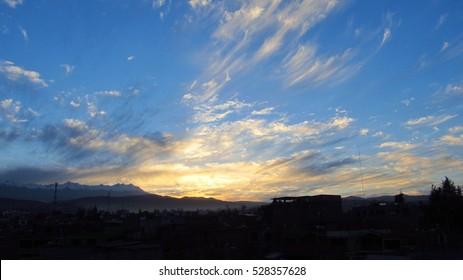 Blue clowdy Sunrise