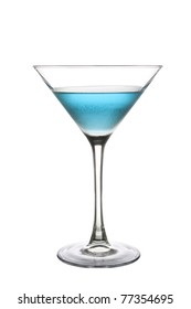 Blue Cocktail Drink on a white background