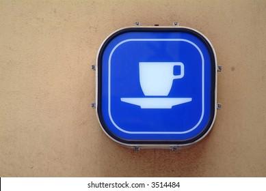blue coffee board