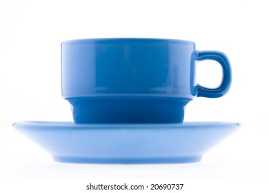 Blue Coffee Mug and Plate