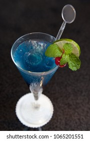 blue cold cocktail beverage drink ready to serve