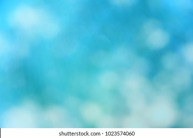 blue color abstract bacground withe blurred defocus bokeh light for template