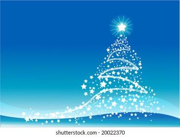 Blue color Christmas background