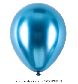 blue color peal metallic latex chrome balloon
