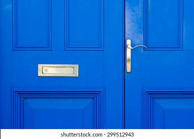 Blue colored door conceptual image