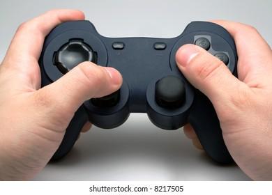 Blue computer gamepad