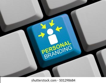 Blue computer keyboard Personal Branding