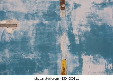 Blue concrete wall background, texture.