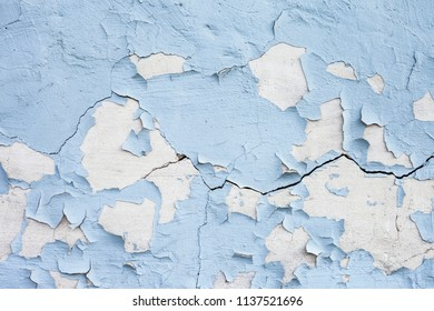 Blue concrete wall with grunge for abstract background.