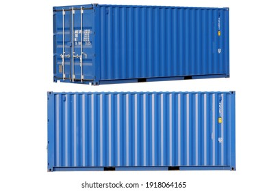 Blue container Cut the white background for easy use. - Shutterstock ID 1918064165
