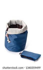Blue cosmetic bag