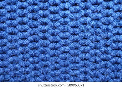 Blue cotton fabric texture close up. Background from a natural textile material.