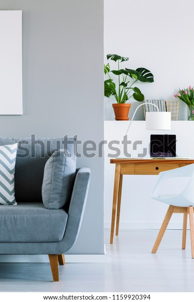 Swell Blue Couch Pillows Bright Interior White Stock Photo Edit Unemploymentrelief Wooden Chair Designs For Living Room Unemploymentrelieforg