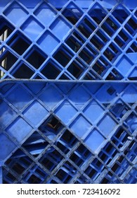 Blue crate at the docks texture