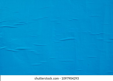 blue creased weathered waved street poster texture