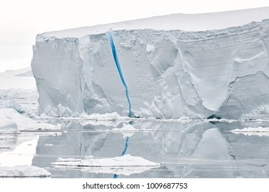 Blue crevice in iceberg, Antarctica