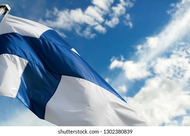 The blue cross flag Finland, a revered symbol of Independence and freedom for a country with more than 100 years of Independence