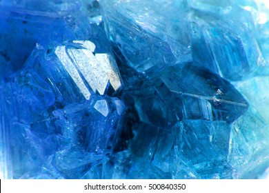 blue crystal  as very nice mineral background