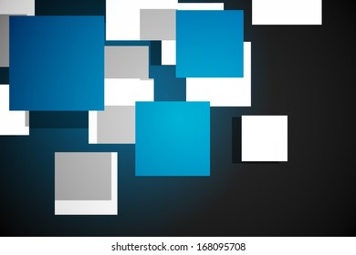 Blue cube pattern