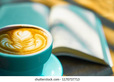 Blue Cup of Coffee,Selective focus