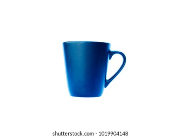 Blue cups Isolated on white backgrounds include clipping path
