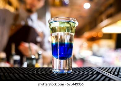Blue Curacao Shot