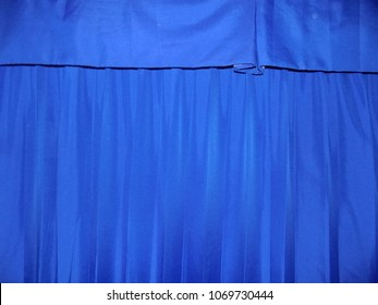 Blue Curtains with Matching Pelmet