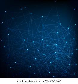 Blue and dark Network Background