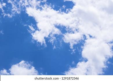 Blue day sky