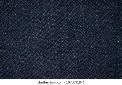 Blue denim fabric. Texture of fabric