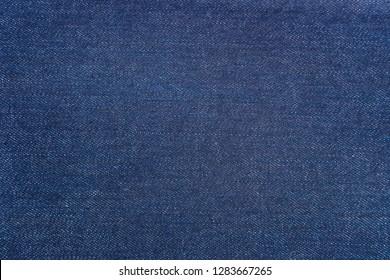 Blue Denim Pattern. Classic Jeans Texture Fabric