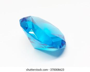 Blue diamond on a white background